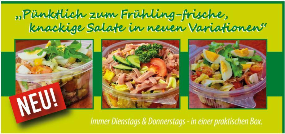 Dienstag und Donnerstag ist Salat-Tag
